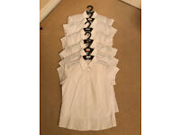 M&S School Blouses Girls (white) - Sizes 11-14 years - 15 in total - 50p each
