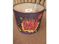 kids lampshades graffiti and cartoon comic action theme