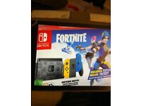 all boxed limited edtion fortnite nintendo switch console £300