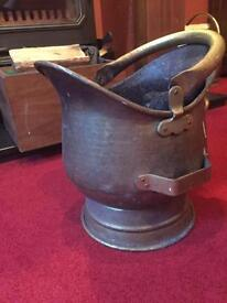 Footed Antique Coal Bucket