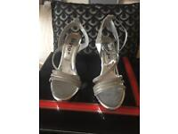 Silver size 3 Sandals brand new