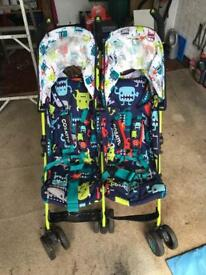 Cuddle monster twin stroller