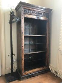 Far Eastern wooden shelf unit