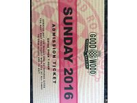 Goodwood Revival Sunday General Admission tickets X 2