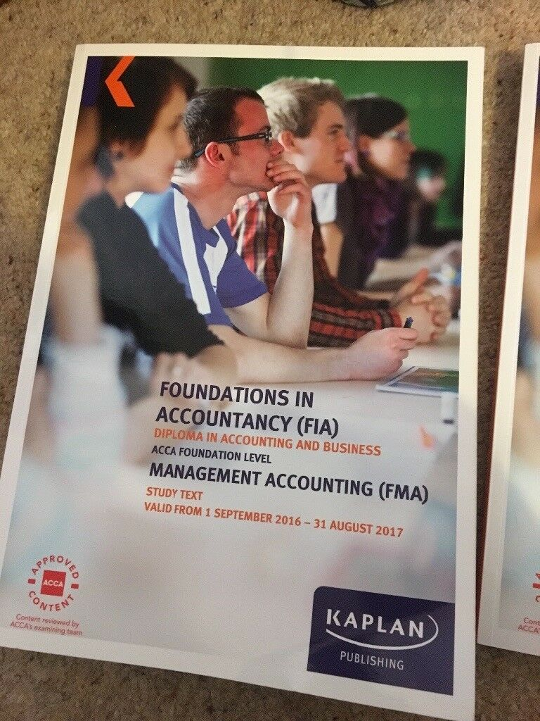 ACCA Kaplan FMA Management Accounting Study Text and Exam Kit F2