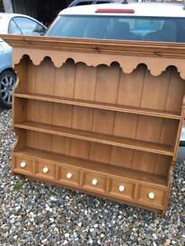 Solid pine wall mounted dresser