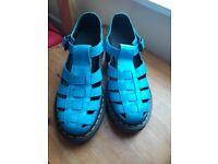 Size 4 Electric Blue Vintage Dr Martens Shoes