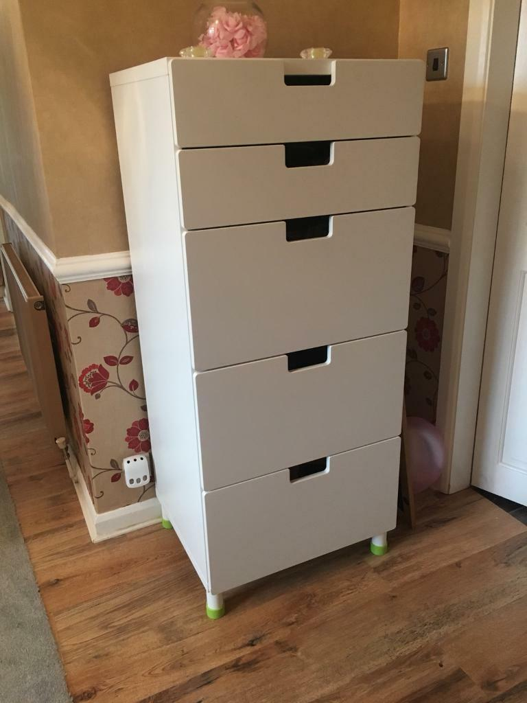 IKEA STUVA white drawers