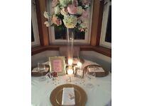 Wedding Gold Photoframes - JOB LOT - 17 frames
