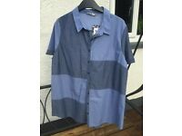 2 tone blue blouse - brand new with tags