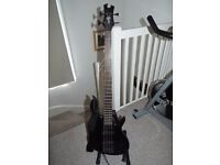 Epiphone Tobias Standard IV Toby Bass Guitar, Ebony - includes stand