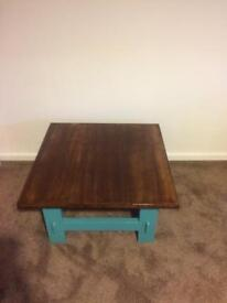 Upcycled square coffee table