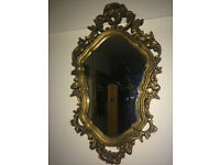 Fabulous Antique Style French Rococo Ornate Wall Mirror Gilt Wood Frame
