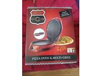 Gourmet Gadgetry Retro Diner Pizza Oven/Multi-Grill Maker Machine   Metallic Red