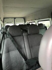 2002 Transit minibus seats