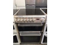 HOTPOINT free standing electric ceramic cooker 60 cm width stainless steel perfect working order