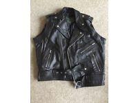 'Charlie' Real Leather Jacket (Sleeveless, Never Worn, Size 40)