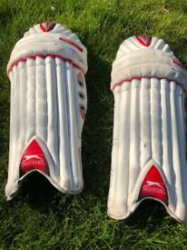 Boys Slazenger cricket pads.
