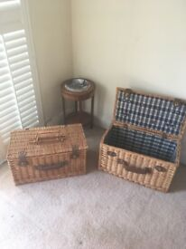 Lovely wicker baskets/