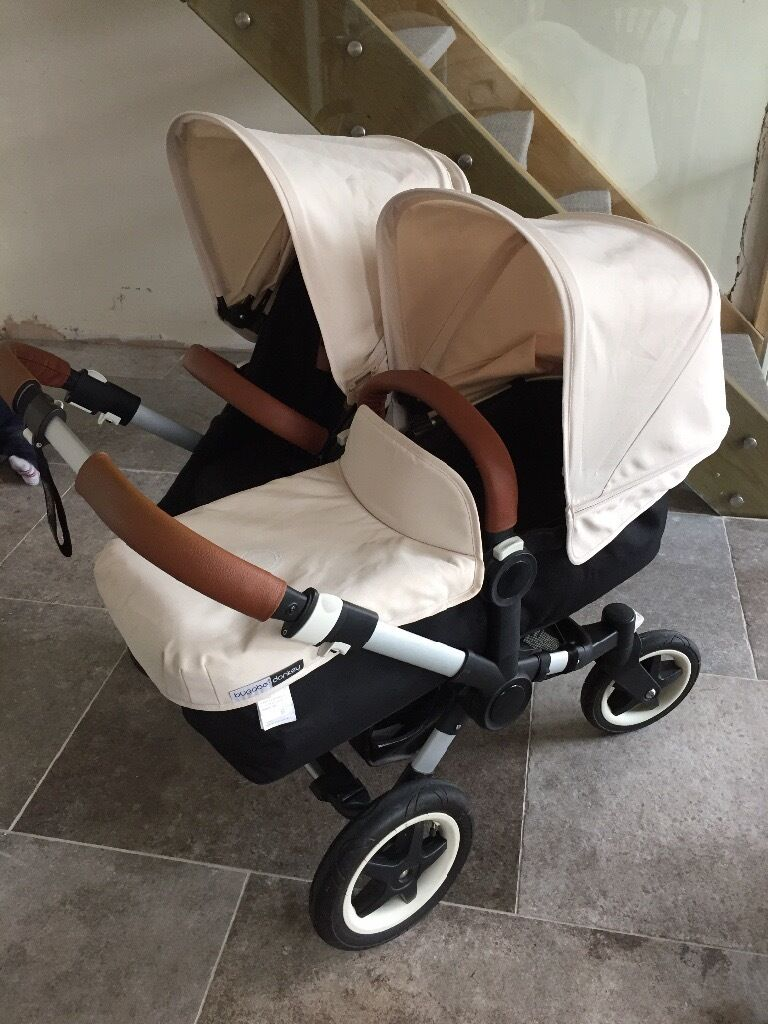 bugaboo donkey duo v1 1 extendable hoods carrycot car seat adaptor and more in weymouth. Black Bedroom Furniture Sets. Home Design Ideas