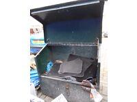 Large, Green, Steel, High Security Tool Safe, Storage Vault, Van Site Yard Box