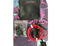 Monster Beats by Dr. Dre iBeats Earphones with Mic- Black/Red