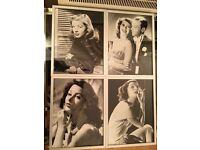 6 x Framed Prints - Hollywood legends