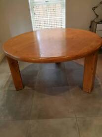Large round table