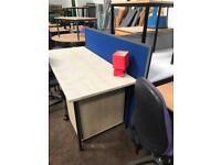 1600mm x 750mm Straight Maple Desk