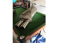 Custom made exhaust backbox