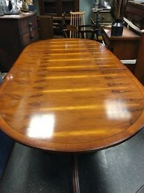 Repro ANTIQUE Table, extendable could sit max 8-10 people.