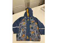 Boys age 2-4 Lupilu waterproof rain coat
