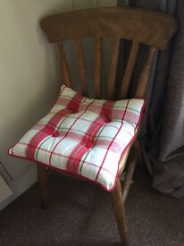 Pair kitchen chairs with Laura Ashley cushions
