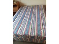 Double bed (divan) and mattress