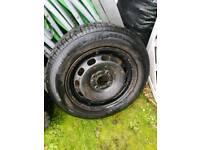 Fiesta steel wheel new tyre