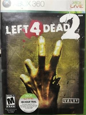 XBOX 360  Horror Halloween Left 4 Dead 2 Video Game In Case With Instructions