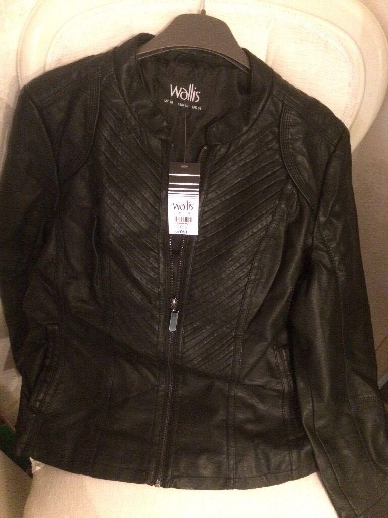 Leather jacket size 18 - Wallis Artificial Leather Jacket Size 18