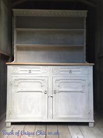 Grey vintage Welsh dresser