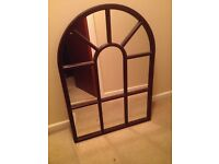 Mirror Mahogany Arched in perfect condition ready for hanging