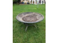 Round wood burner