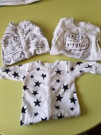 Boys first size next sleepsuits