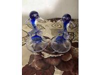 Blue Glass Dolphin Figure / Figurine