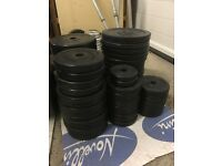 Weight Training Plates and Dumbbells