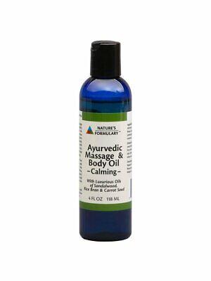 Natures Formulary Ayurvedic Massage Oil Calming - 4 FL OZ (Pack -