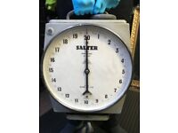 SALTER HANGING SCALES MAX WEIGHT 20 CWT - GOOD WORKING ORDER