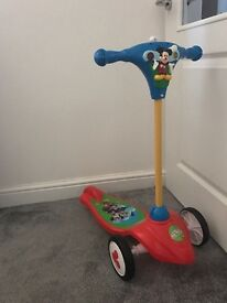 mickey mouse activity scooter