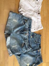 3 pairs of denim shorts age 15 from new look and next