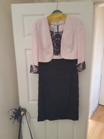 Condici mother of the bride dress with matching jacket size 12 with bag and fascinator