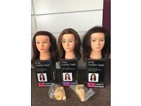 Hairdressing training heads/blocks 100% human hair