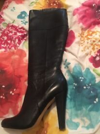 Size 5 real leather dune boots